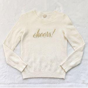 Cream and Gold J. Crew Cheers Merino Wool Sweater